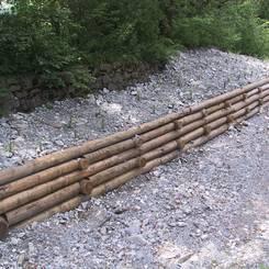 08 Mit Stecklingen bepflanzter Holzkasten als Uferschutz