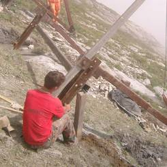 10 Reparatur an Stahlschneebruecken durch Schaeden an der Fundation